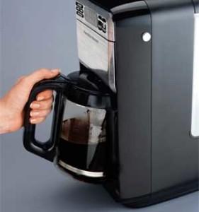Hamilton Beach 12 Cup Digital Coffee Maker (side view)