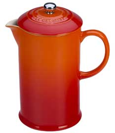 Le Creuset Stoneware 27oz. French Press, Flame