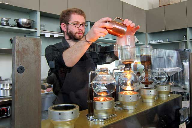 Siphon Bar at the Blue Bottle Café