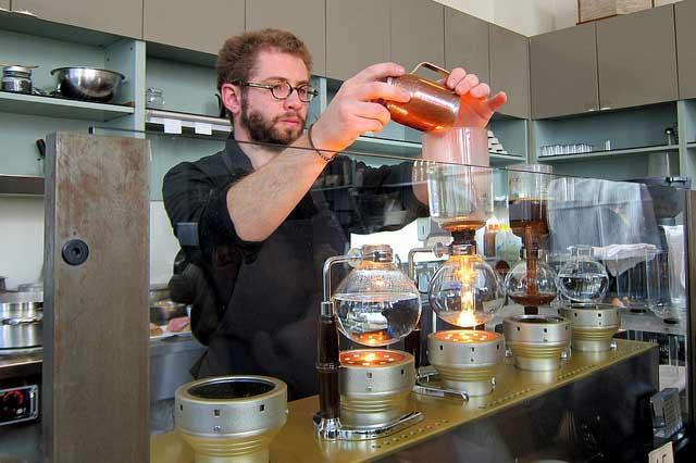 Siphon Bar at the Blue Bottle Café