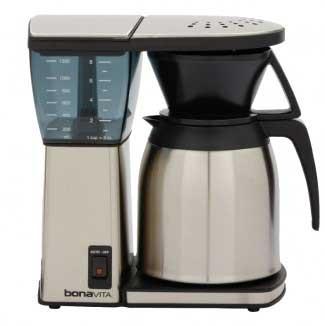 Drip Coffee Maker Reviews 2015 : Bonavita BV1800 8-Cup Coffee Maker Review (vs. 1900TS)