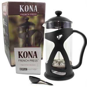 1 Kona French Press Coffee Tea Espresso Maker 34 Oz Liter